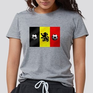 Belgian Football Flag Womens Tri-blend T-Shirt