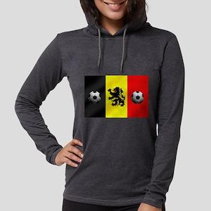 Belgian Football Flag Womens Hooded Shirt
