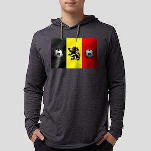 Belgian Football Flag Mens Hooded Shirt