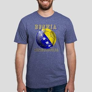 Bosnia Herzegovina Football Mens Tri-blend T-Shirt