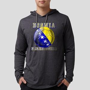Bosnia Herzegovina Football Mens Hooded Shirt