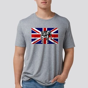 British Bulldog Flag Mens Tri-blend T-Shirt