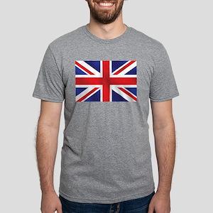 Union Jack UK Flag Mens Tri-blend T-Shirt