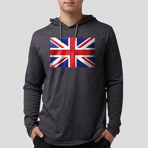 Union Jack UK Flag Mens Hooded Shirt