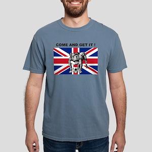 British Football Bulldog Mens Comfort Colors Shirt