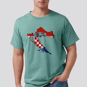 Flag Map of Croatia Mens Comfort Colors Shirt