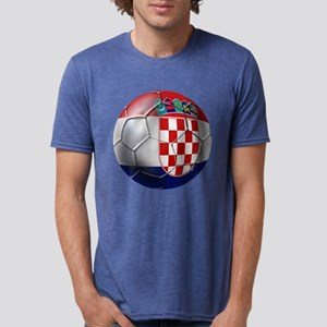 Croatian Football Mens Tri-blend T-Shirt