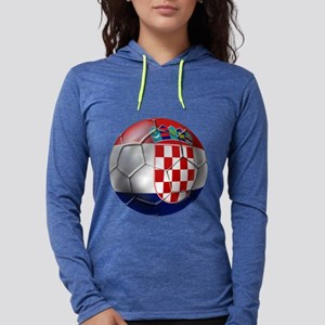 Croatian Football Womens Hooded Shirt
