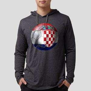 Croatian Football Mens Hooded Shirt