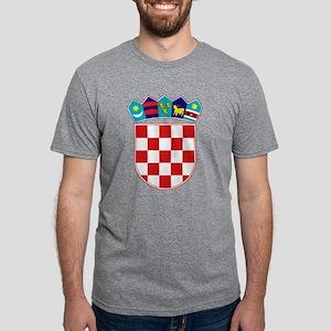 Croatia Hrvatska Emblem Mens Tri-blend T-Shirt
