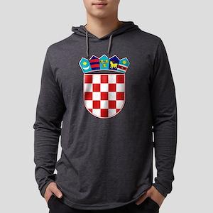 Croatia Hrvatska Emblem Mens Hooded Shirt