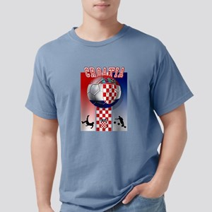 Croatian Football Mens Comfort Colors Shirt