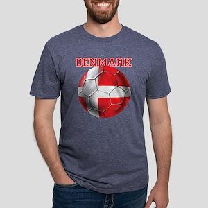 Denmark Soccer Mens Tri-blend T-Shirt