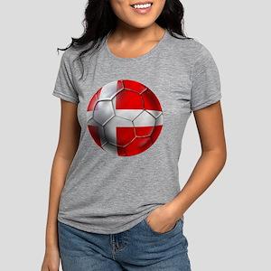 Danish Football Womens Tri-blend T-Shirt