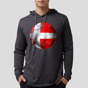 Danish Football Mens Hooded Shirt