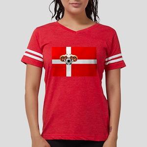 Danish Football Flag Womens Football Shirt