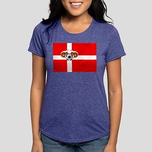 Danish Football Flag Womens Tri-blend T-Shirt