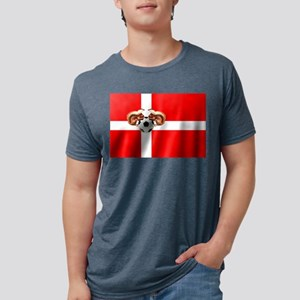 Danish Football Flag Mens Tri-blend T-Shirt