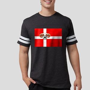 Danish Football Flag Mens Football Shirt