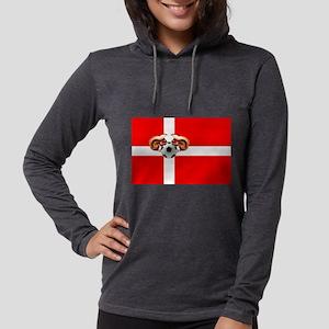Danish Football Flag Womens Hooded Shirt
