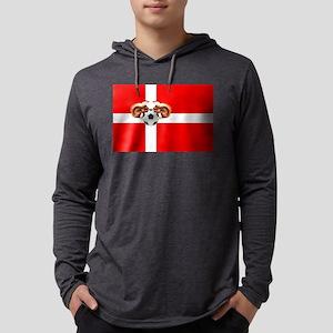 Danish Football Flag Mens Hooded Shirt