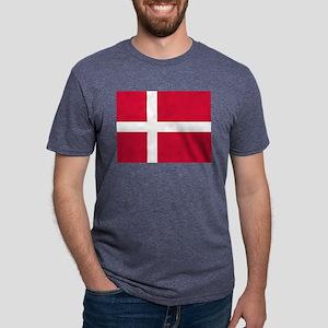 Flag of Denmark Mens Tri-blend T-Shirt