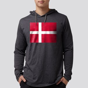 Flag of Denmark Mens Hooded Shirt