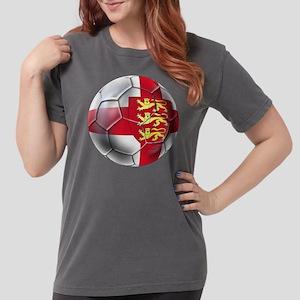 English 3 Lions Football Womens Comfort Colors Shi
