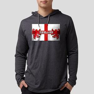 England Lion Flag Mens Hooded Shirt