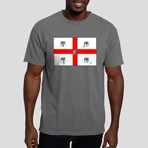 English Bulldog Football Flag Mens Comfort Colors