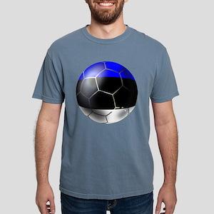Estonia Soccer Ball Mens Comfort Colors Shirt