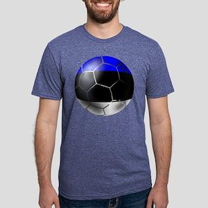 Estonia Soccer Ball Mens Tri-blend T-Shirt