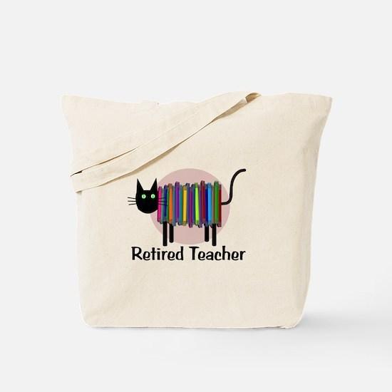 Retired Teacher Book Cat.PNG Tote Bag