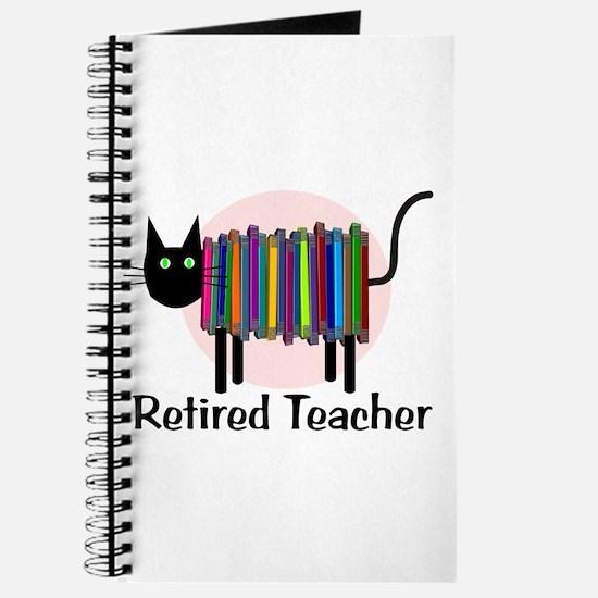 Retired Teacher Book Cat.PNG Journal