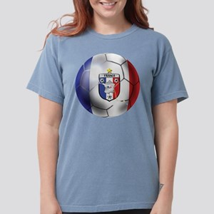 French Soccer Ball Womens Comfort Colors Shirt