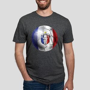 French Soccer Ball Mens Tri-blend T-Shirt
