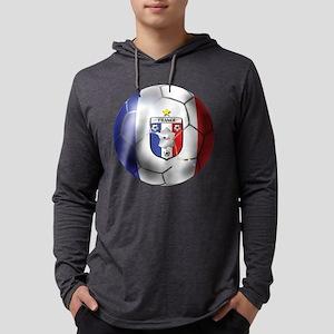 French Soccer Ball Mens Hooded Shirt