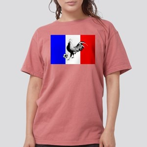 French Football Flag Womens Comfort Colors Shirt