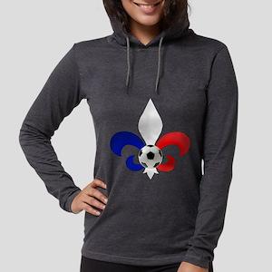 French Fleur de Lis Womens Hooded Shirt