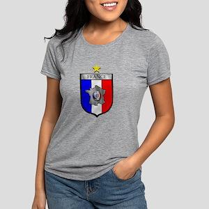 French Football Shield Womens Tri-blend T-Shirt