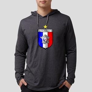 French Football Shield Mens Hooded Shirt