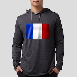 Flag of France Mens Hooded Shirt