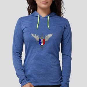 French Graphic Womens Hooded Shirt
