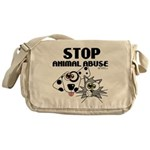 stop-animal-abuse-01 Messenger Bag