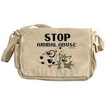 stop-animal-abuse-01 Messenger Bag