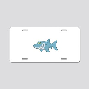 Shark Aluminum License Plate