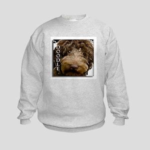 Chocolate Doodle Kids Sweatshirt