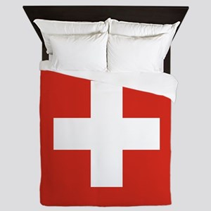 Flag of Switzerland Queen Duvet