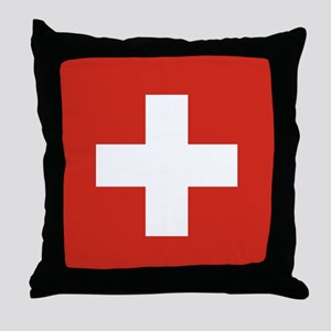 Flag of Switzerland Throw Pillow