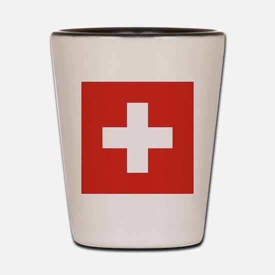 Flag of Switzerland Shot Glass